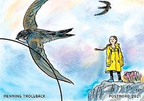 В Европе выпустили почтовые марки в честь экоактивистки Греты Тунберг